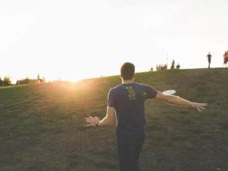 Frisbee Sonnenuntergang