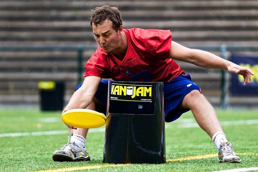 Kanjam-Frisbee-Tonne