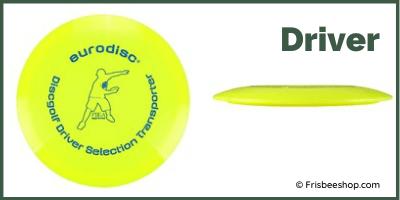 Disc Golf Driver mit Profil Ansicht