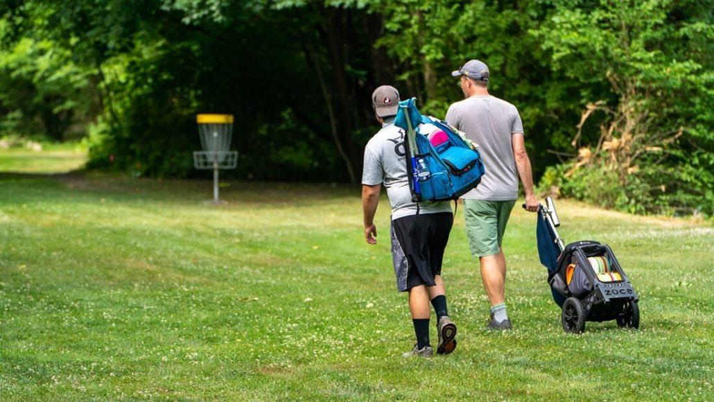 Disc Golf Rucksack und Tasche mit Rollen