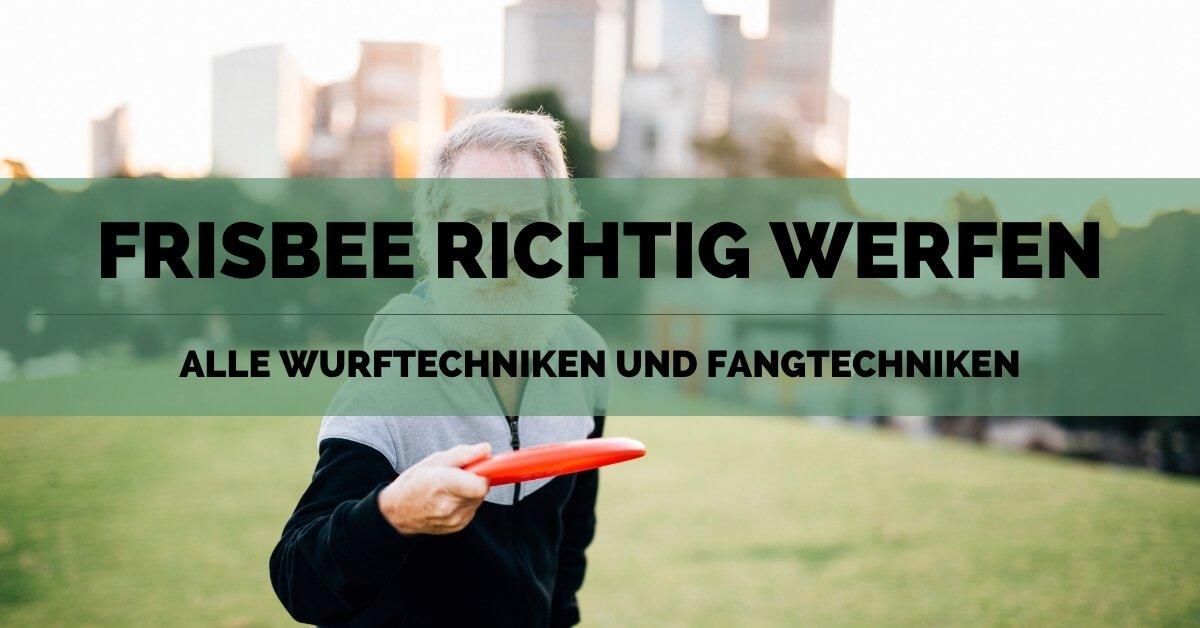 Frisbee werfen und fangen - FB
